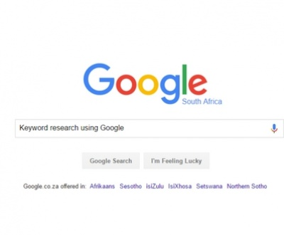 Keyword Research Using Google